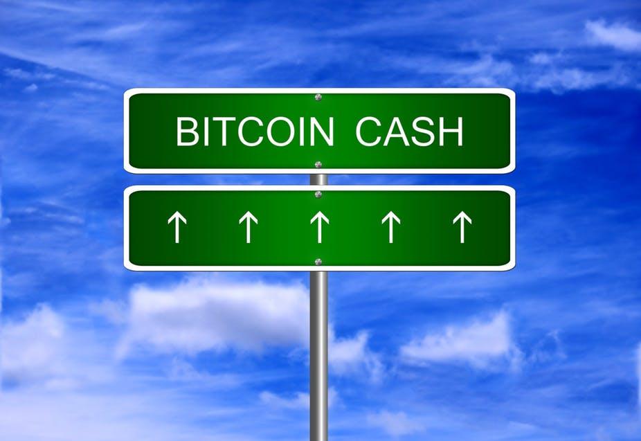 bitcoin cash up
